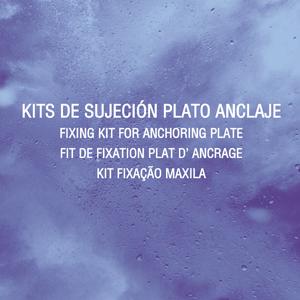 Kit sujeción Plato Anclaje para mordazas de freno para vehiculo industrial